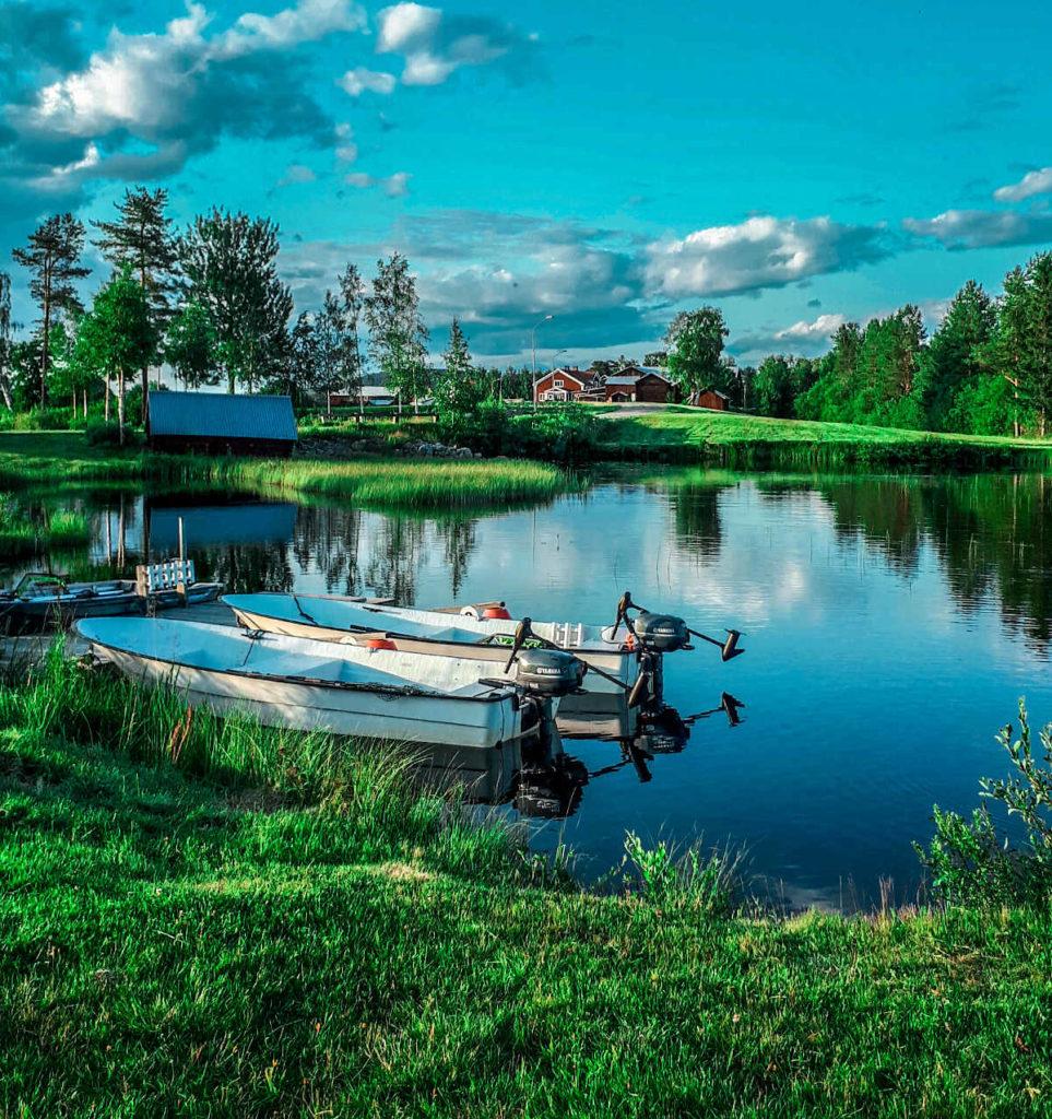 Les barques de pêche du brochet en Suède à Lappland Pro Natur