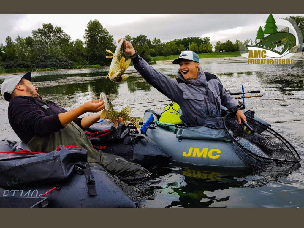 Initiation pêche des carnassiers en float tube en lacs de barrage Creusois