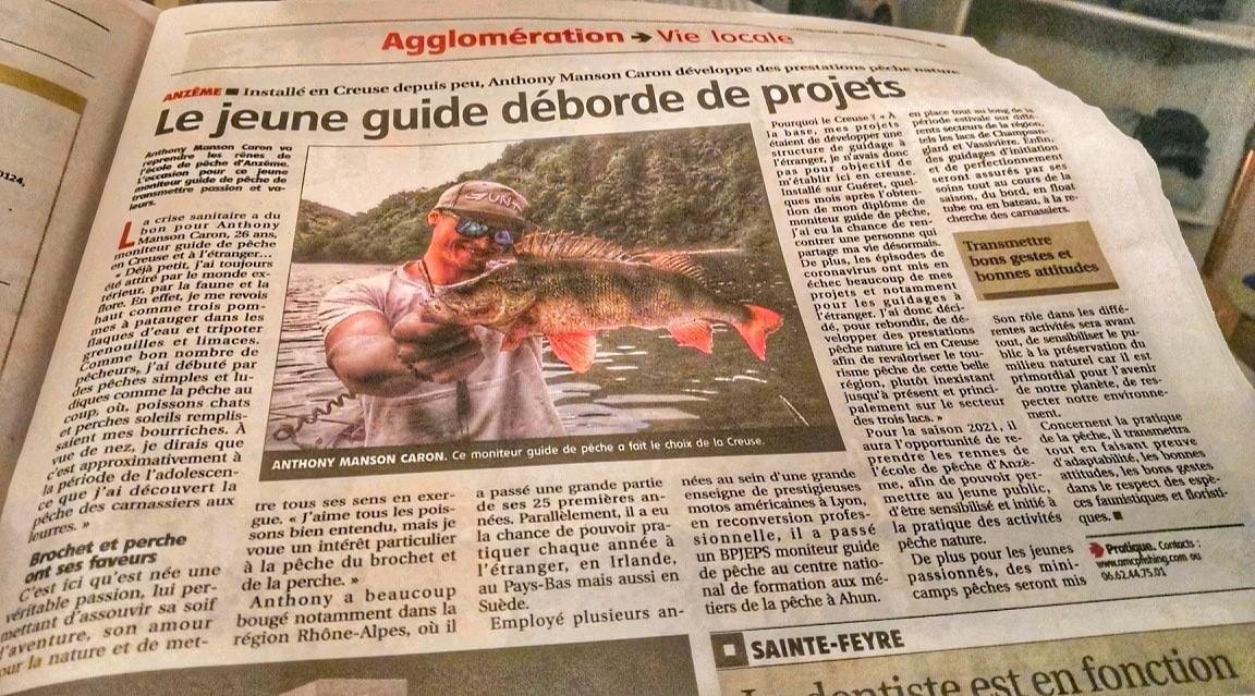 Article moniteur guide pêche Creuse