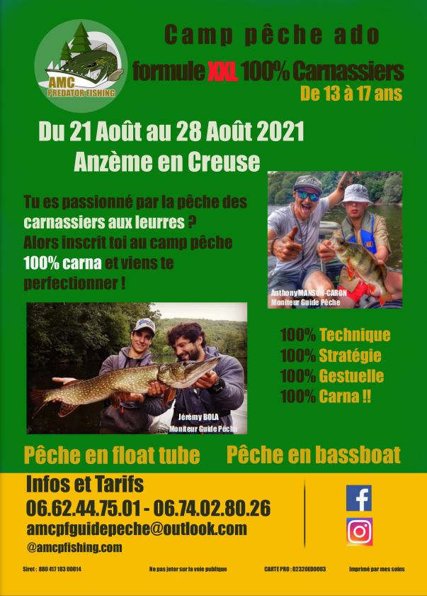 camp pêche Anzème Limousin